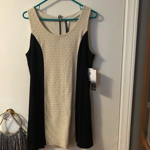 NWT Kensie black and cream sleeveless dress